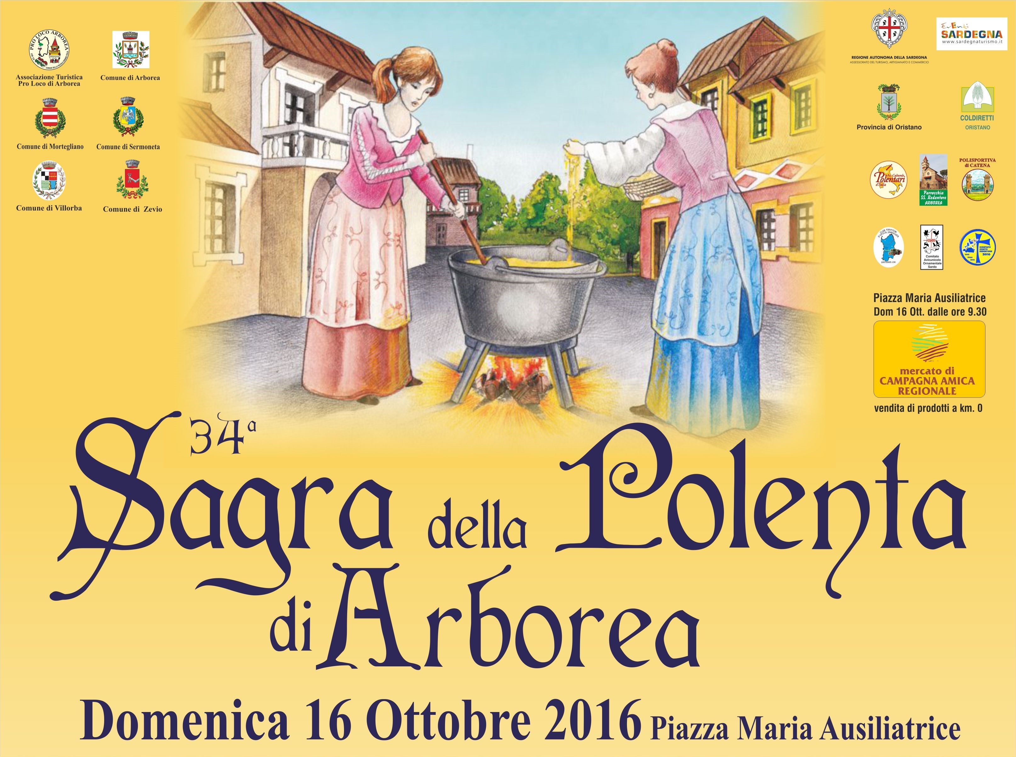 34a Sagra della Polenta di Arborea – 16 Ottobre 2016