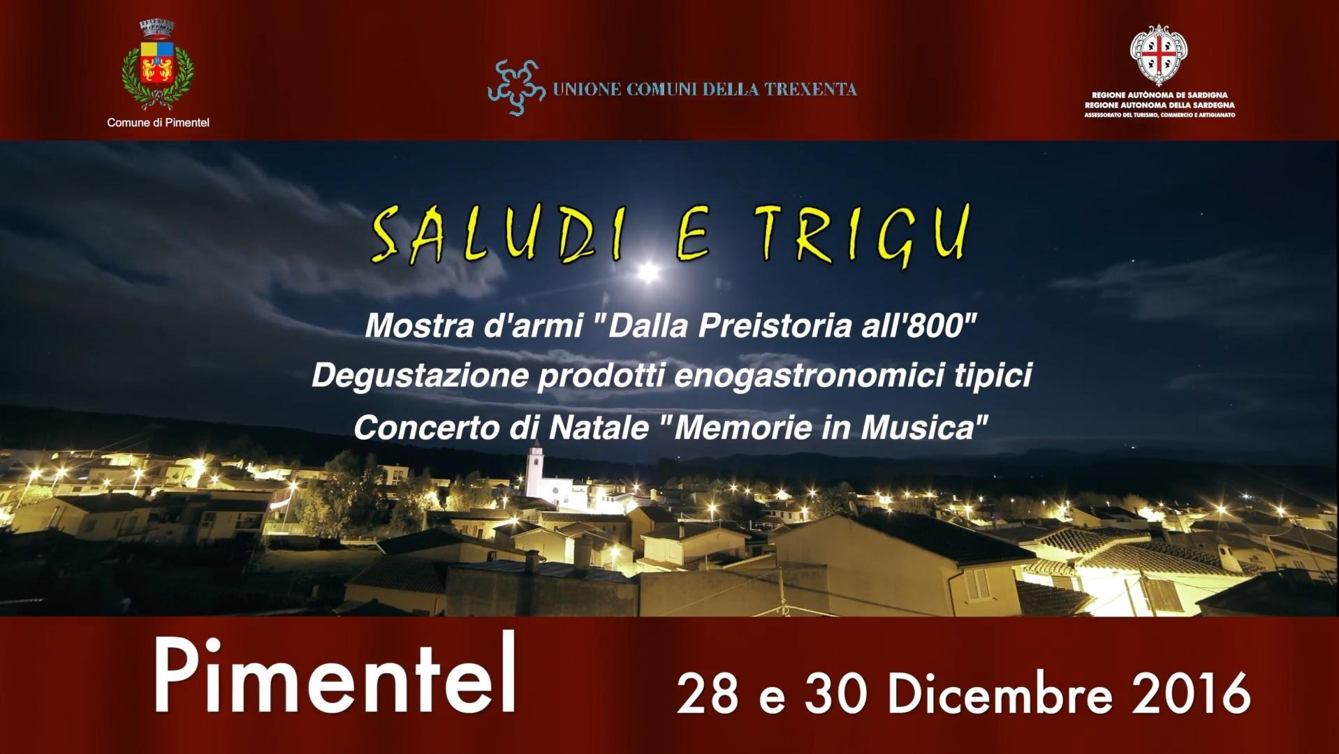 Saludi e Trigu – Pimentel – 28 e 30 Dicembre 2016