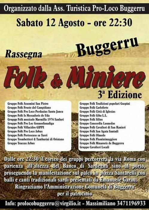 3° Rassegna Folk e Miniere – Buggerru – 12 Agosto 2017