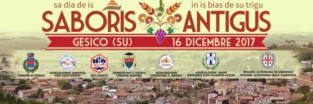 8° Edizione – Saboris Antigus – Gesico – 16 Dicembre 2017
