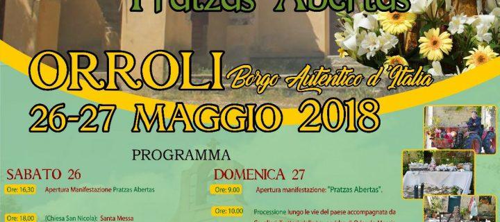 Festa di San Nicola – Pratzas Abertas – Orroli – 26-27 Maggio 2018